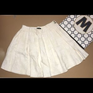 Zara Woman Pleated Flared Mini Skirt